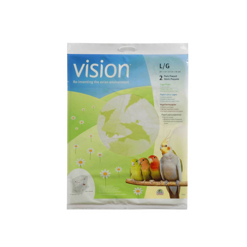 Vision Cage Paper Liner -  Large, Value Pack of 2