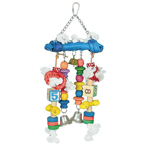 Baby Steps ABC Rawhide Parrot Toy with Bells