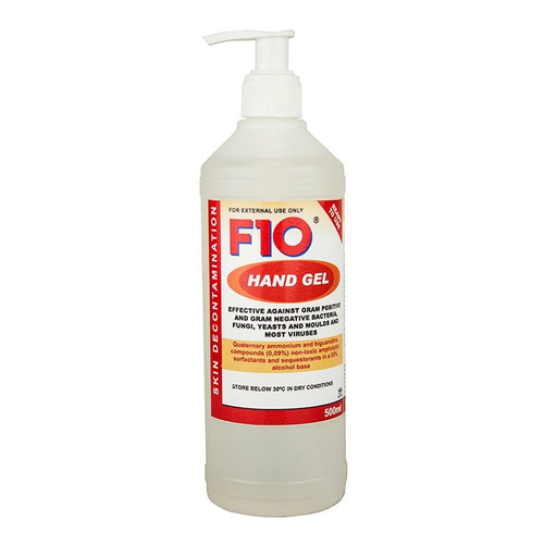 F10 Antiseptic Hand Gel with Pump - 500ml