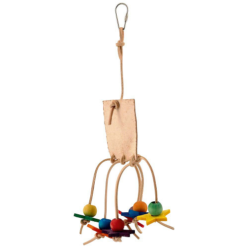 Leather Love Parrot Toy