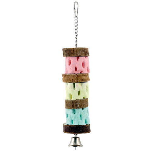 Triple Cactus Slice Mineral Chew Parrot Toy