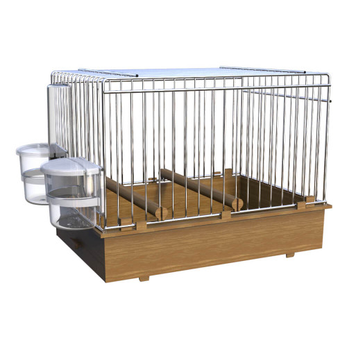 Pet Ting Small Parrots & Birds Transport Cage - Brown