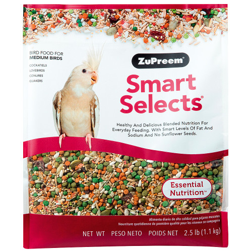 ZuPreem Smart Selects - Cockatiel & Lovebird Food