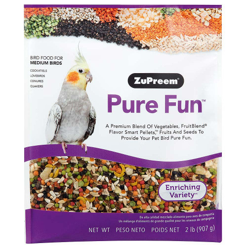 ZuPreem Pure Fun Enriching Food for Medium Parrots
