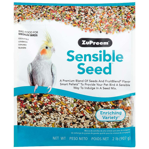 ZuPreem Sensible Seed with Smart Pellets for Medium Parrots