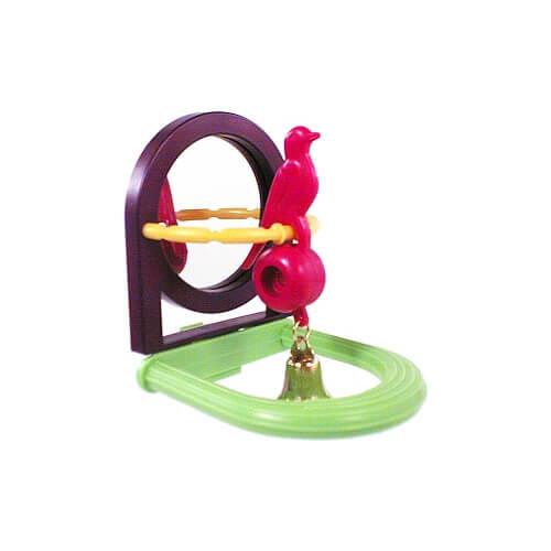 Jingle Bird with Mirror and Perch Parrot Toy