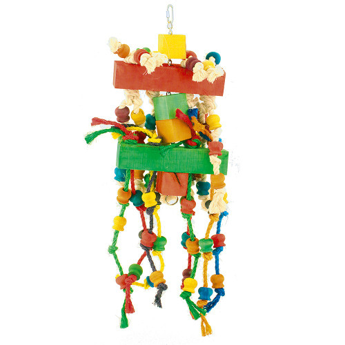 Chewtastic Wood & Rope Parrot Toy