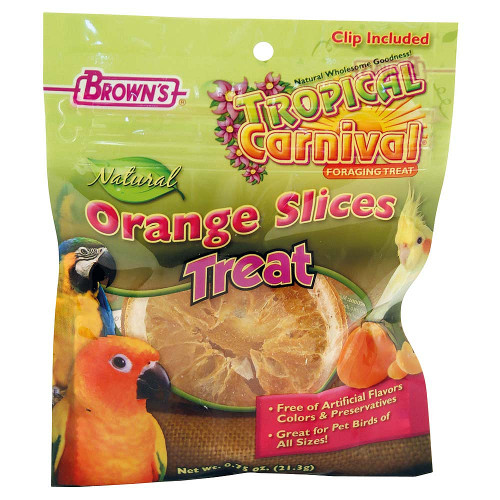 Brown's Orange Slices Parrot Treats