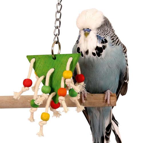 Beaded Triangle Small Bird Toy