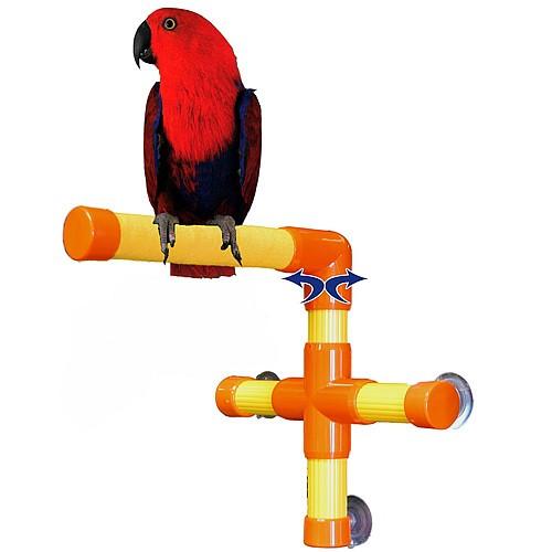 Shower & Window Parrot Perch - Medium