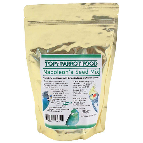 TOP's Napoleon Small Parrots Seed and Soaking Mix