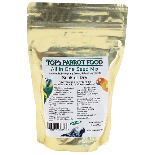 TOP's All-in-One Parrot Seed and Soaking Mix