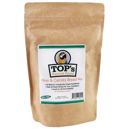 TOP'S Premium Birdie Bread Mix - Peas & Carrots - 1.36lb
