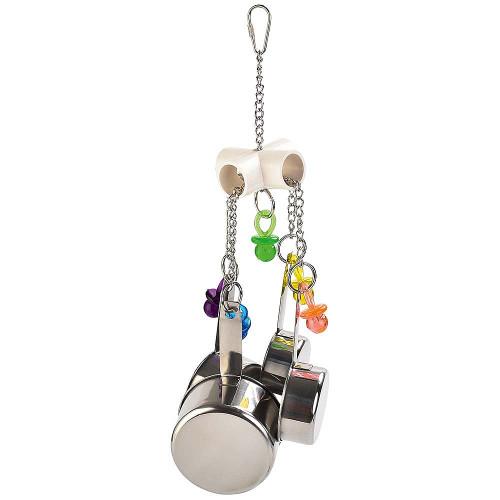 Pan Clacker Parrot Toy