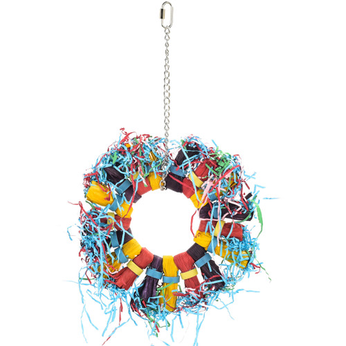 Paper Party Wheel Enrichment Natural Parrot Toy