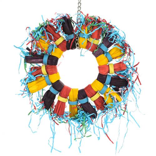 Paper Party Wheel Enrichment Natural Parrot Toy
