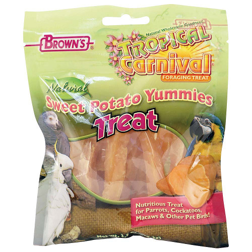 Brown's Sweet Potato Yummies Parrot Treats