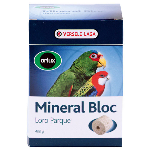 Loro Parque Jumbo Mineral Block for keeping your parrot healthy.