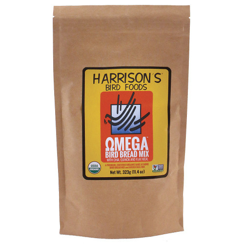 Harrison`s Bird Bread Mix Omega Organic Parrot Treat
