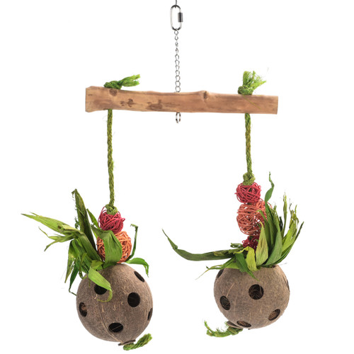 Double Fly Coco Foraging Parrot Toy - Large