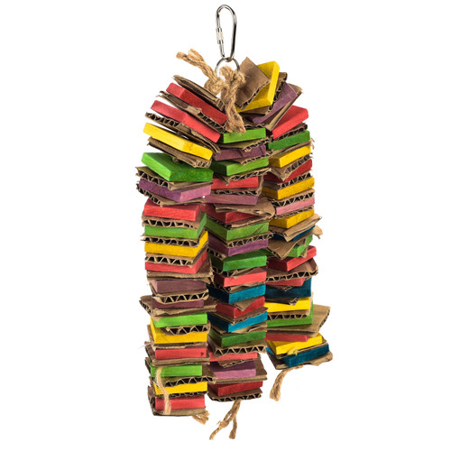 Triple Towers Stacks - Wood & Cardboard Shredding Parrot Toy