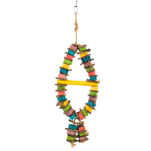 Pendant - Stacks of Shredding Wood & Cardboard Parrot Toy
