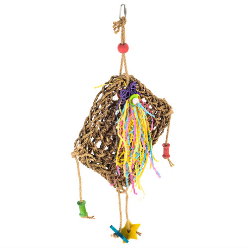 Natural Seagrass Activity Wall Parrot Toy