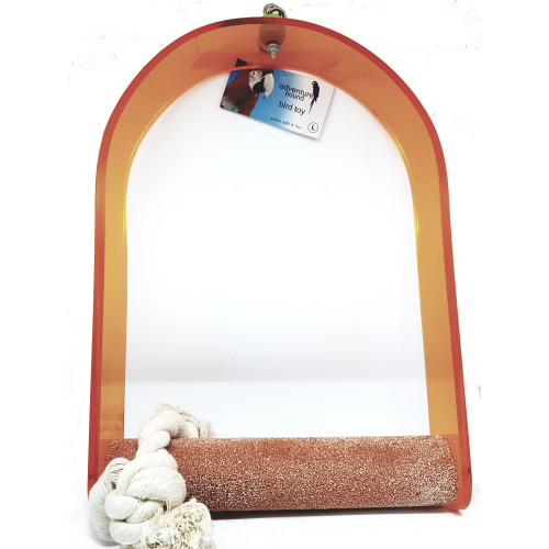 Nail Trimming Arch Swing Parrot Perch - XLarge