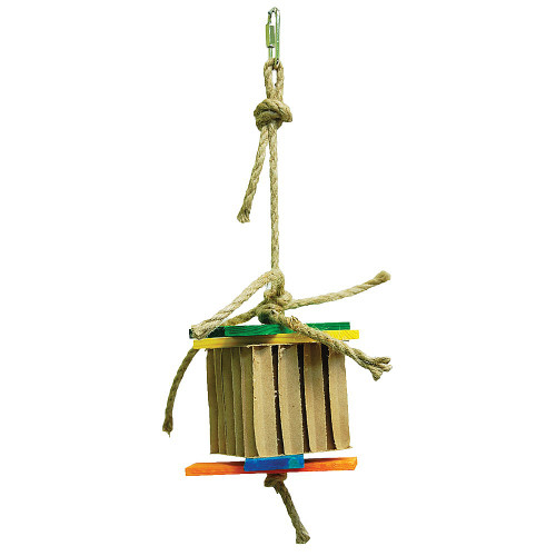 Honeycomb Foraging & Shredding Cube Parrot Toy