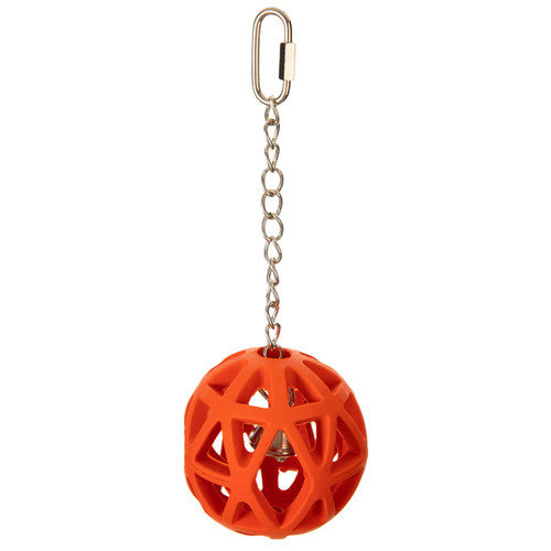 Parrot Essentials Jingle Ball with Chain Foraging Bird & Parrot Toy