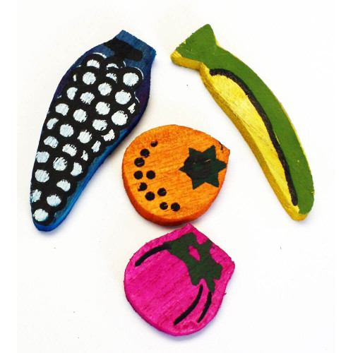 Wooden Fruit Flavoured Chews - Foot Parrot Toys - Pack of 4