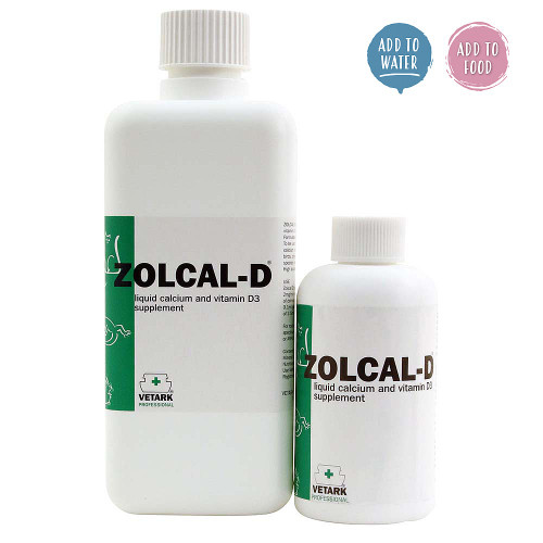 Zolcal-D Liquid Calcium with Vitamin D3 Parrot Supplement