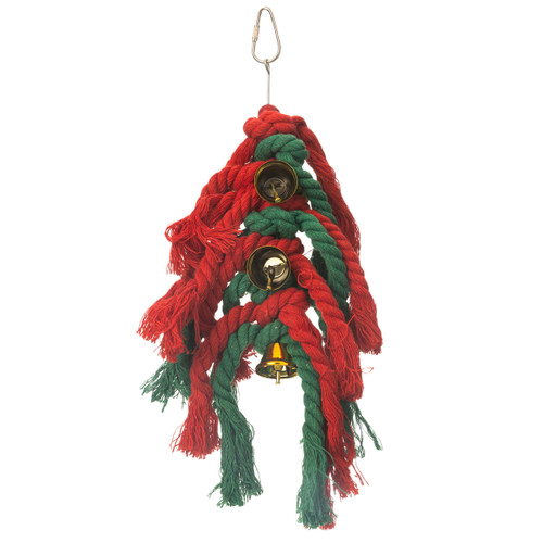 Knotty Preener Chiming Parakeet & Parrot Toy - Medium