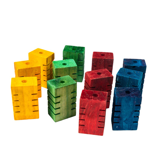 Foot Parrot Toy - Chunky Groovy Blocks - Pack of 12