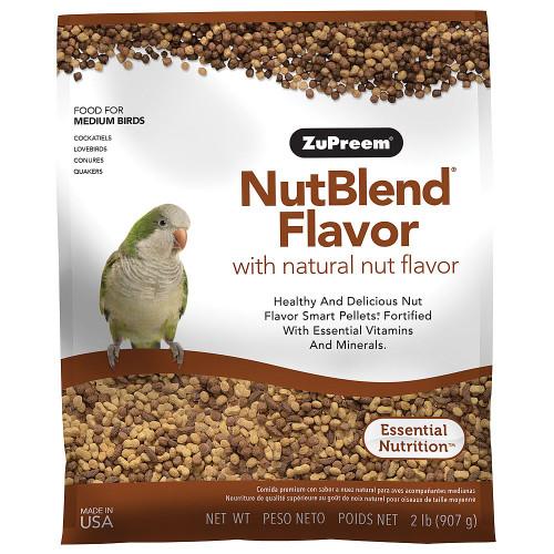 ZuPreem NutBlend Complete Parrot Food for Medium Pet Birds