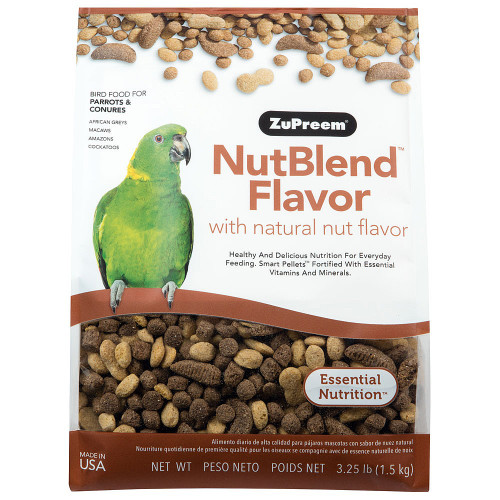 ZuPreem NutBlend Complete Parrot Food for Medium and Large Parrots