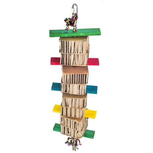 Honeycomb Foraging & Shredding Tower Parrot Toy - Large