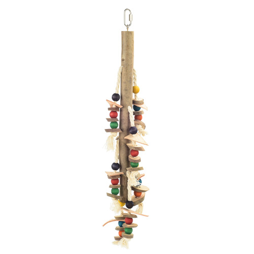 Natural Stacker Wooden Parrot Toy - Large