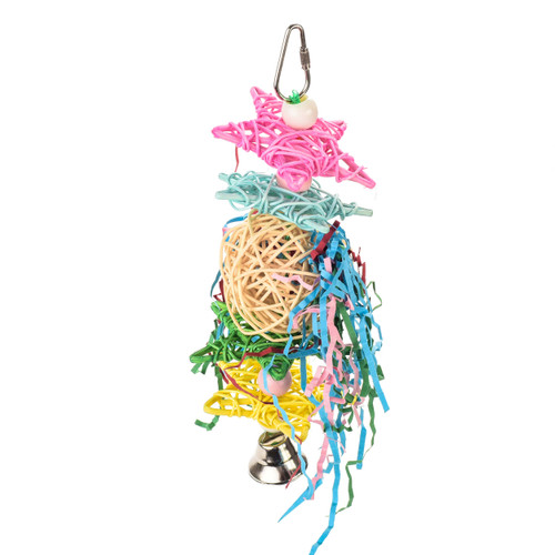 Crinkle Crinkle Little Star Hanging Chew Parrot Toy - Medium
