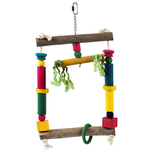Wooden Activity Swing For Parrots