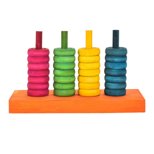 Teaching Colours - Wooden Parrot Training Toy