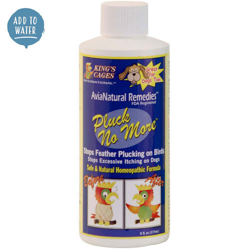 Pluck No More Natural Feather Plucking Remedy in 6oz bottle