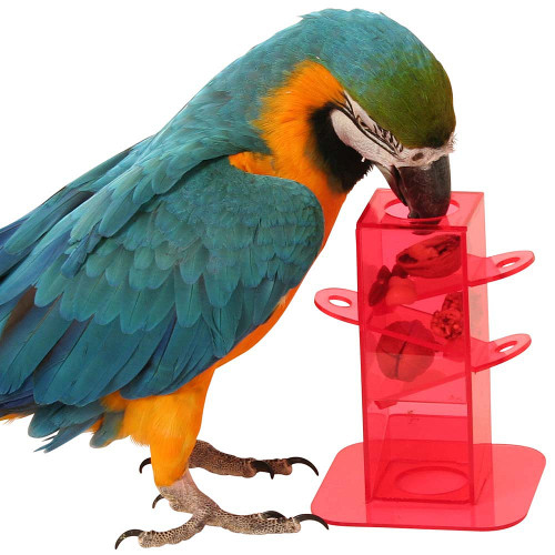 Puzzle Treat Tower Foraging Parrot Toy
