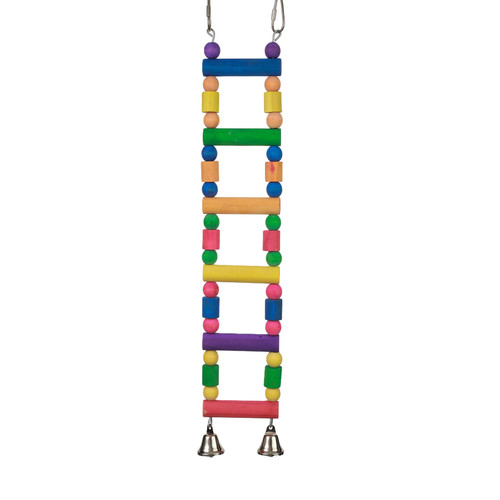 Rainbow Ladder Toy for Parrots and Pet Birds with Bells