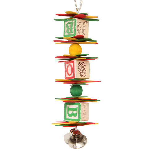 ABC Spoon Stack - Wooden Chew Toy for Parrots