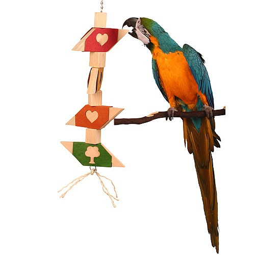 I Love To Chew - Large Wooden Chew Parrot Toy