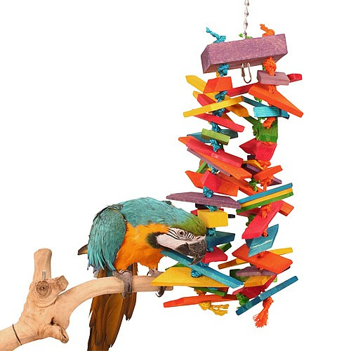 Chomptastic Rainbow Tower Large Natural Parrot Toy