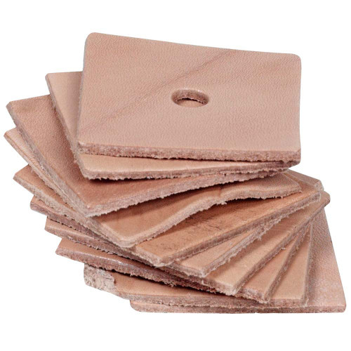 Pack of 10 Leather Squares - Medium - Parrot Toy Making Part