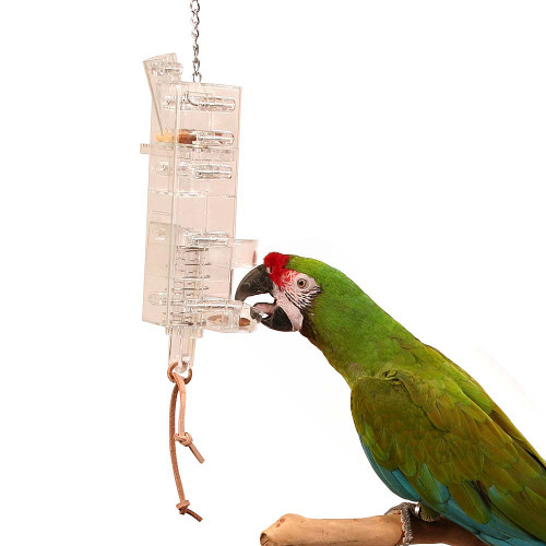 Tug N Slide Foraging Tower Parrot Toy