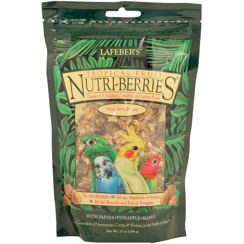 Lafeber NutriBerries Tropical - Sm Parrot & Cockatiel 284g